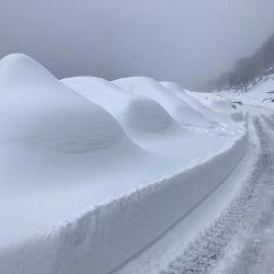 Сильные снегопады в горах