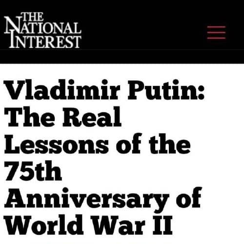 Статья Путина: мнения из Австралии