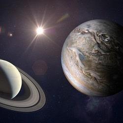 Соединение планет Юпитер и Сатурн