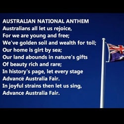 Поправки в текст гимна Австралии